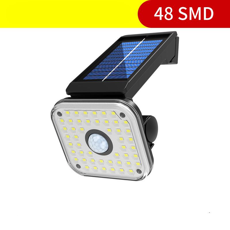 Solar Light Sensor Spotlight Waterproof Outdoor Adjustable Lamp for Garden Wall
