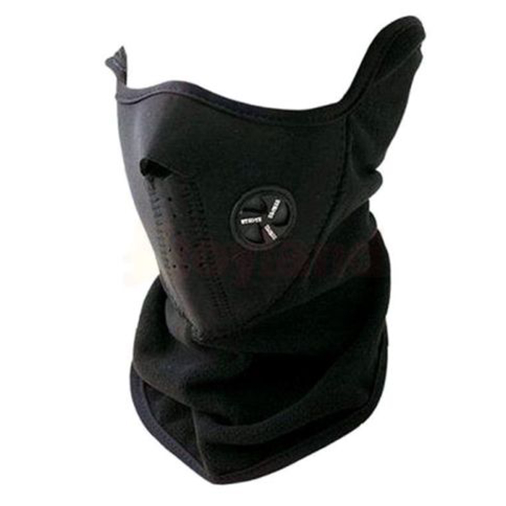 Cycling Mask Wind-proof Dust-proof Warmth Hiking Ski Mask Outdoor Cold-proof motorcycle Face Mask black_One size
