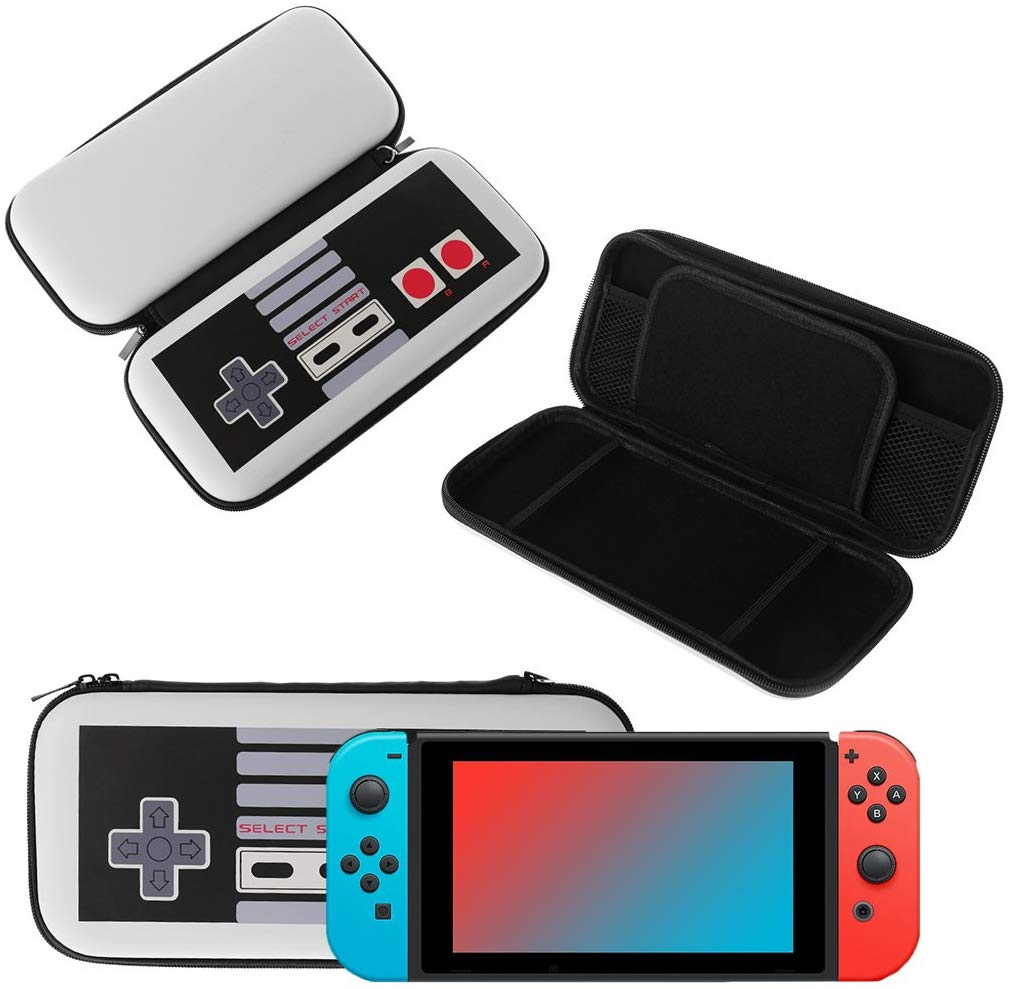 Storage Bag Travel Case for Switch Console Handle Pattern Soft Touch Fabric Gamepad Protection Cover FC handle pattern