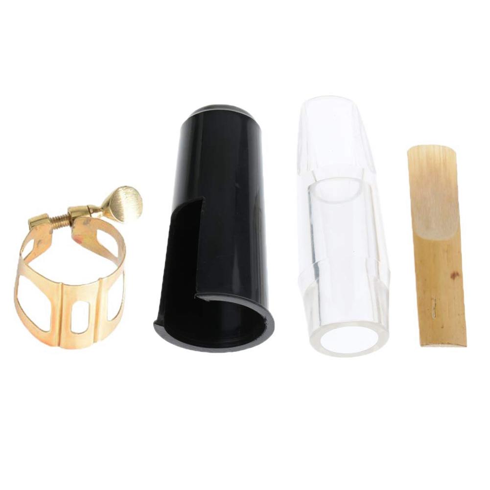 Alto Saxophone Mouthpiece Kit Mouthpiece+Mouthpiece Cap+Clip+Reed Transparent color