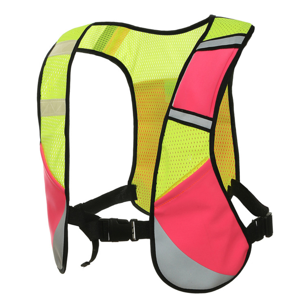 Elastic Multifunction Reflective Vest for Night Riding Running Sports Pink