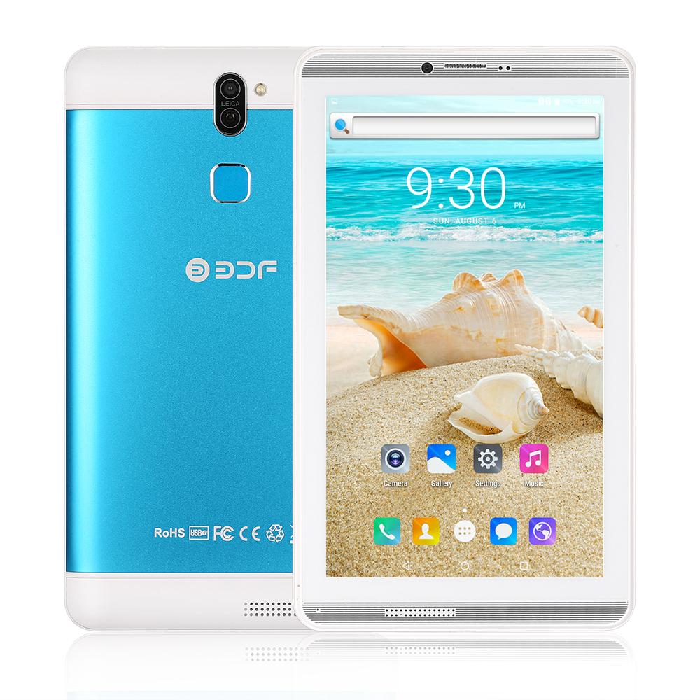 BDF706 7inch 3G Phone Call Tablet PC Android 6.0 Quad Core 1G+16G WiFi Bluetooth Laptop EU Plug blue_1GB+16GB