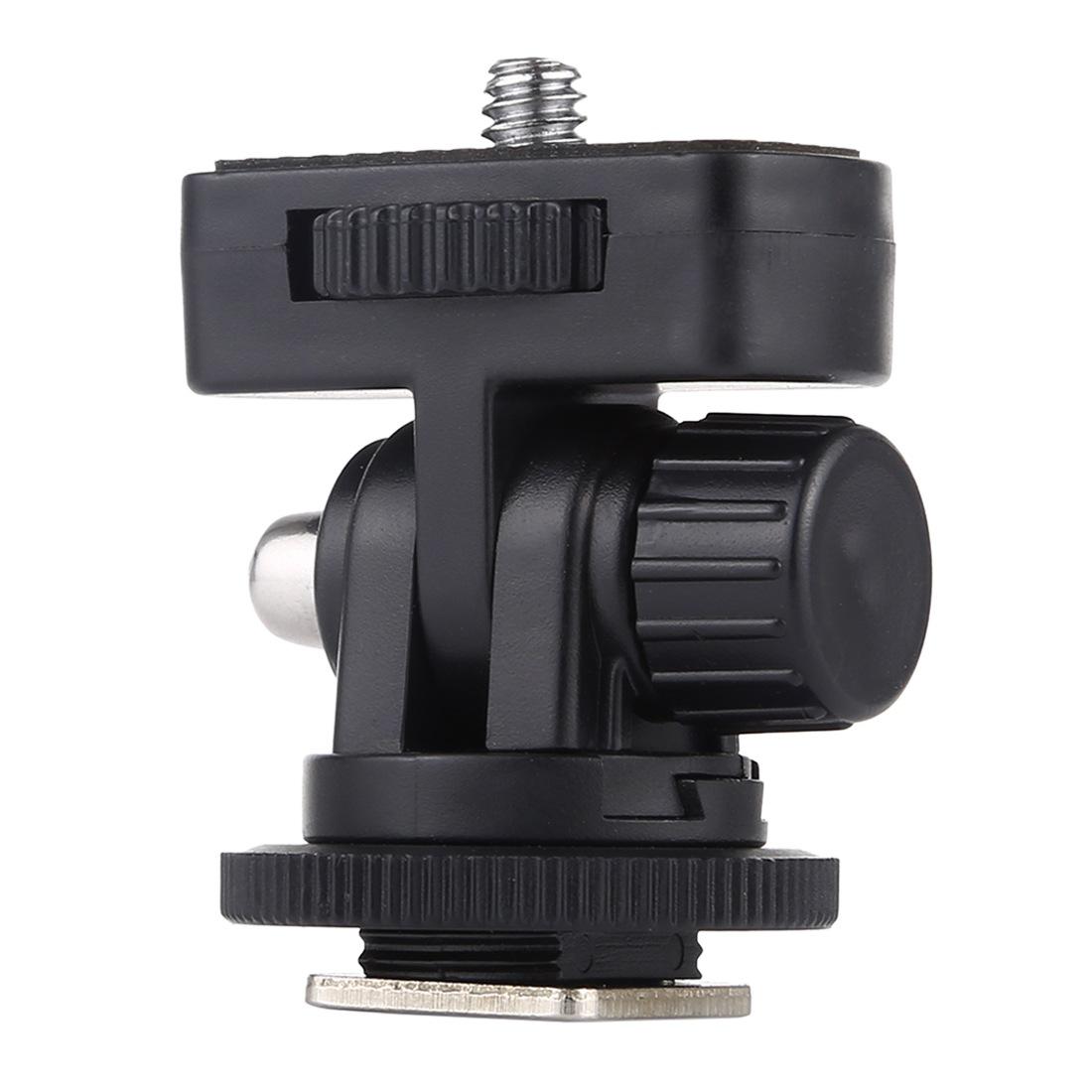 1/4 inch Screw Thread Cold Shoe Tripod Mount Adapter black