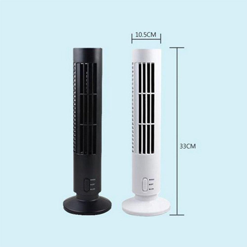 USB Vertical Bladeless Fan Mini Air Conditioner Fan Desk Cooling Fan Home Office Table Tower Fan