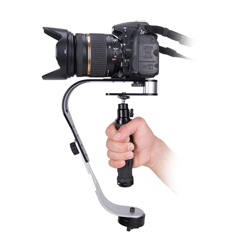 Aluminum Alloy Stabilizer SLR Camera Bow Type Handheld Stabilizer Micro Single Bow Stabilizer Mobile Phone Stabilizer black