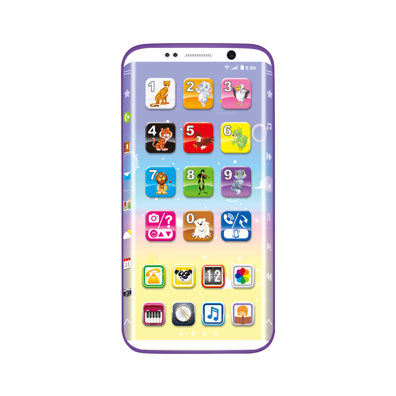 Children Curved Screen Electronic Mobile Toy Phone Early Education Infant Toys YS2603A