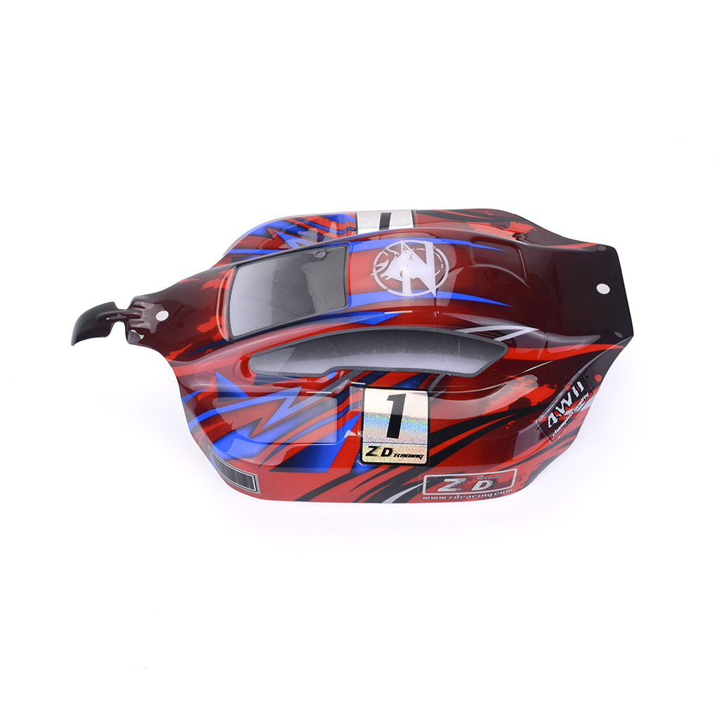8459 1/8 PVC Car Shell for off-road Vehicles Buggy Body Shell Cover for ZD Racing 1:8 RC Car HOBAO HYPER VS Red