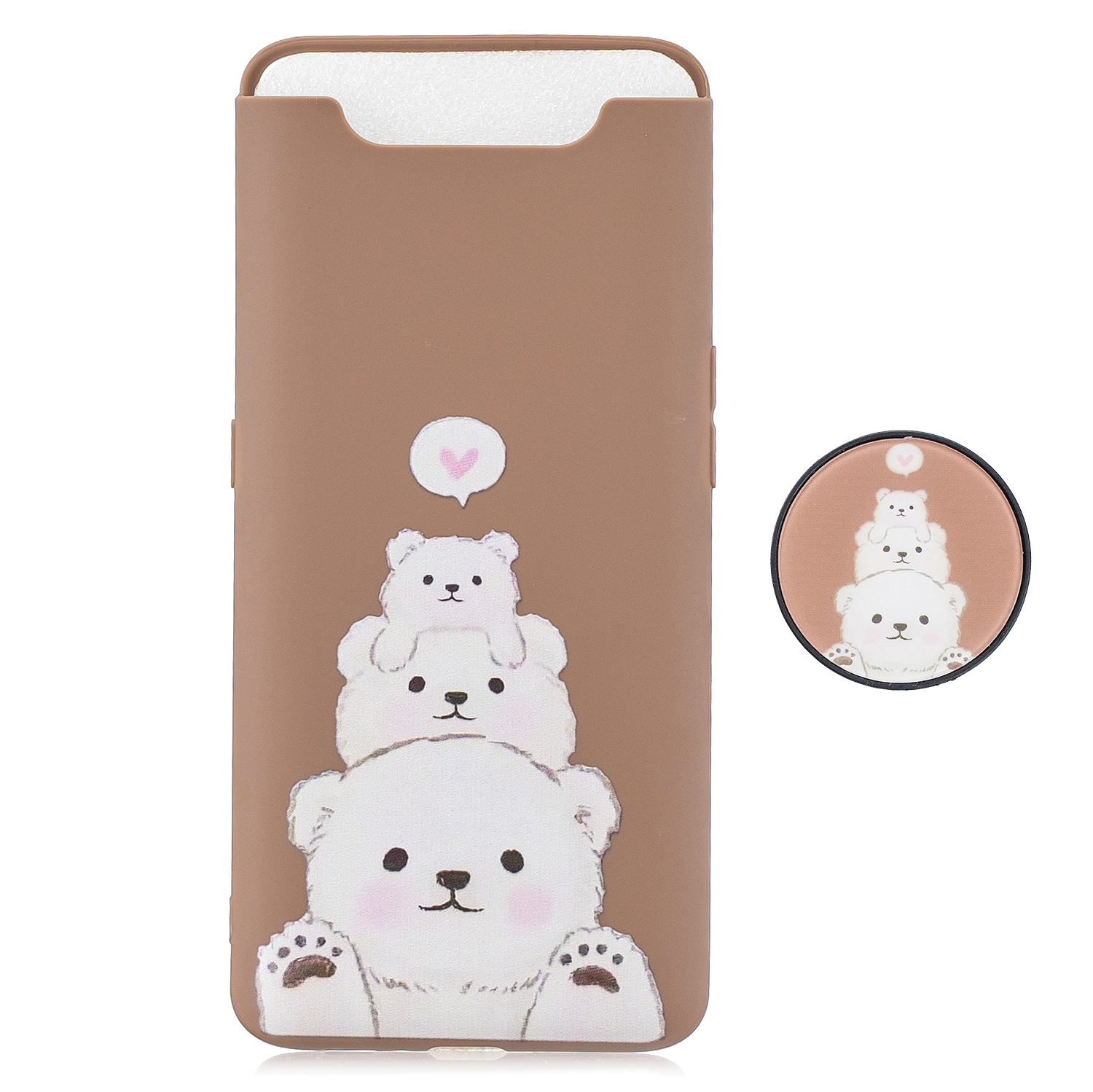 For Samsung A80 Screen Protective Shockproof TPU Full Phone Cover Cartoon Phone Case Full Body Protection Mobile Phone Case with Adjustable Bracket 3