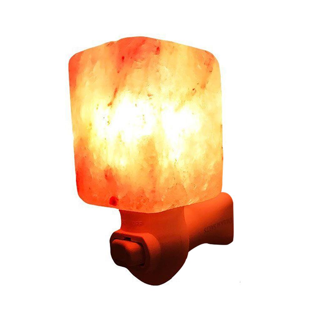 [US Direct] Litake 15W Salt Lamp Himalayan Glow Hand Natural Crystal Salt Lamp Night Light Wireless Bulb Replaceable