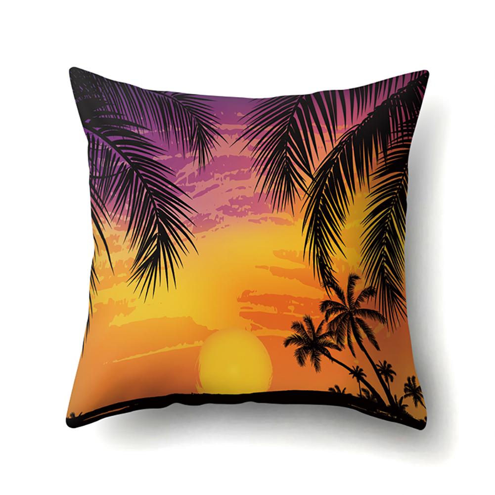 Square Beach Sea Pillowcase Cushion Throw Pillow Cover Printed Living Room Sofa Pillow Case 45*45cm CCA422(8)