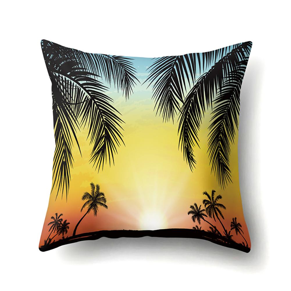 Square Beach Sea Pillowcase Cushion Throw Pillow Cover Printed Living Room Sofa Pillow Case 45*45cm CCA422(9)