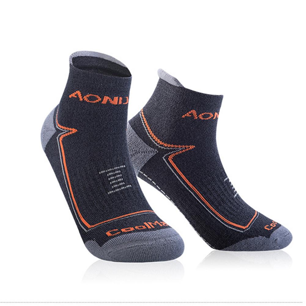 Unisex Sports Napping Socks Wearproof Antiskid Breathable Anti-sweat Socks for Outdoor Sports  Dark gray M
