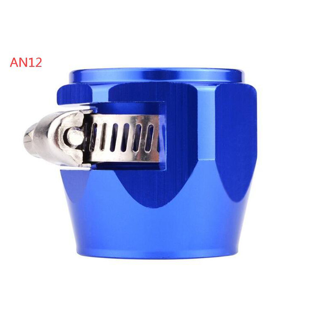 AN4 AN6 AN8 AN10 AN12 Car Hose Finisher Clamp Radiator Modified Fuel Pipe Clip Buckle Blue-AN12