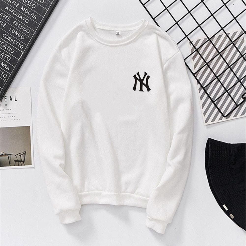 Men Women Lovers Fashion Round Collar Fleece Loose Hooded Sweatshirts Coat white_XL