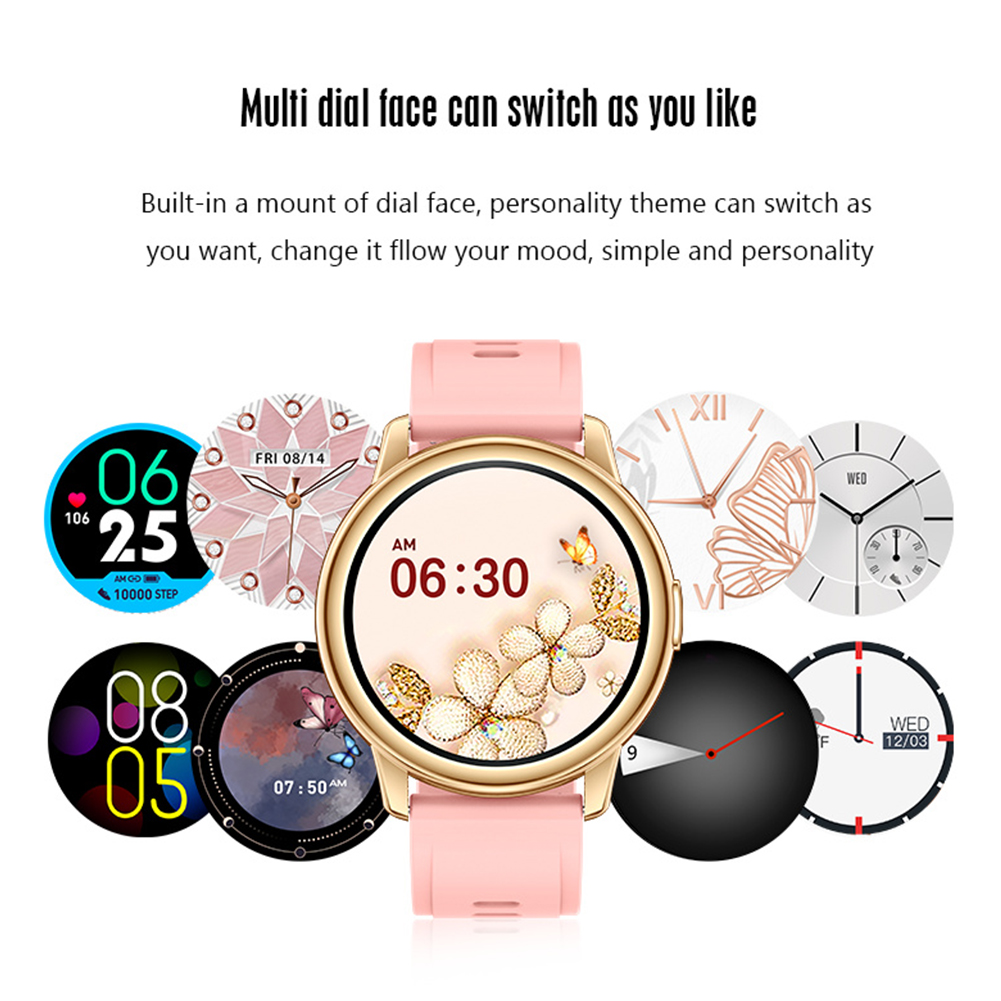 Lf28m Bluetooth-compatible 5.0 Smart  Watch 1.28 Inch Full Touch Diy Waterproof Heart Rate Monitor Smartwatch For Phone pink
