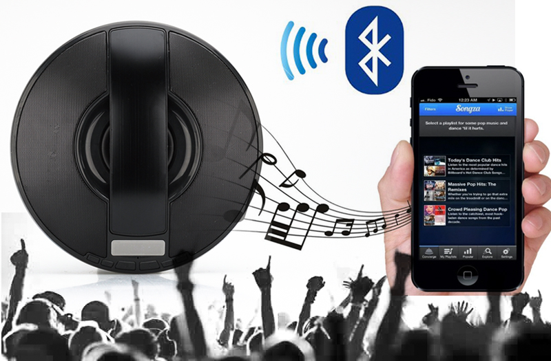 Wireless Portable Bluetooth Speaker 'Volx' - 3+5W Speaker, Subwoofer, Micro SD Card Slot, FM Radio, USB, Line In, Hands-Free