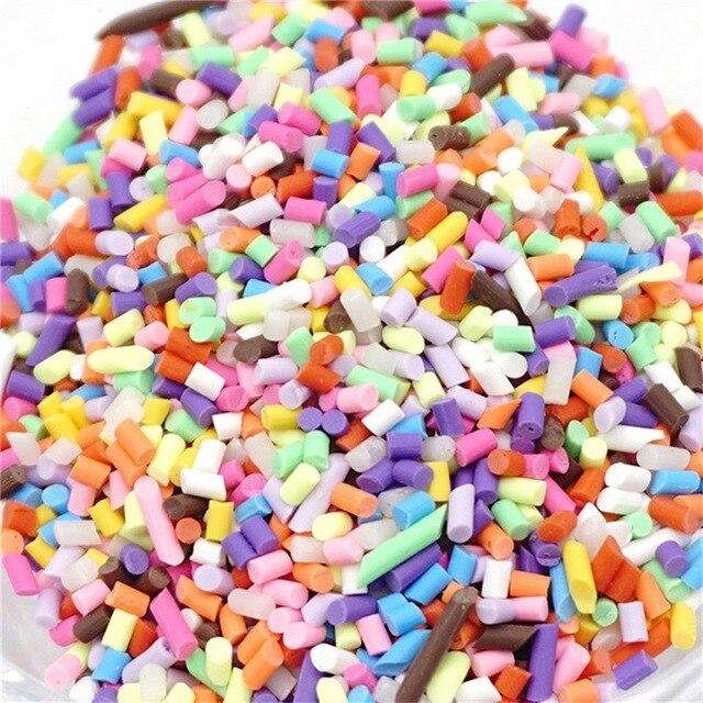 2018 Hot Sale foam beads Colorful Styrofoam Sugar Sprinkles Decorative Slime DIY Craft For Crunchy Plasticine juguetes ninos T