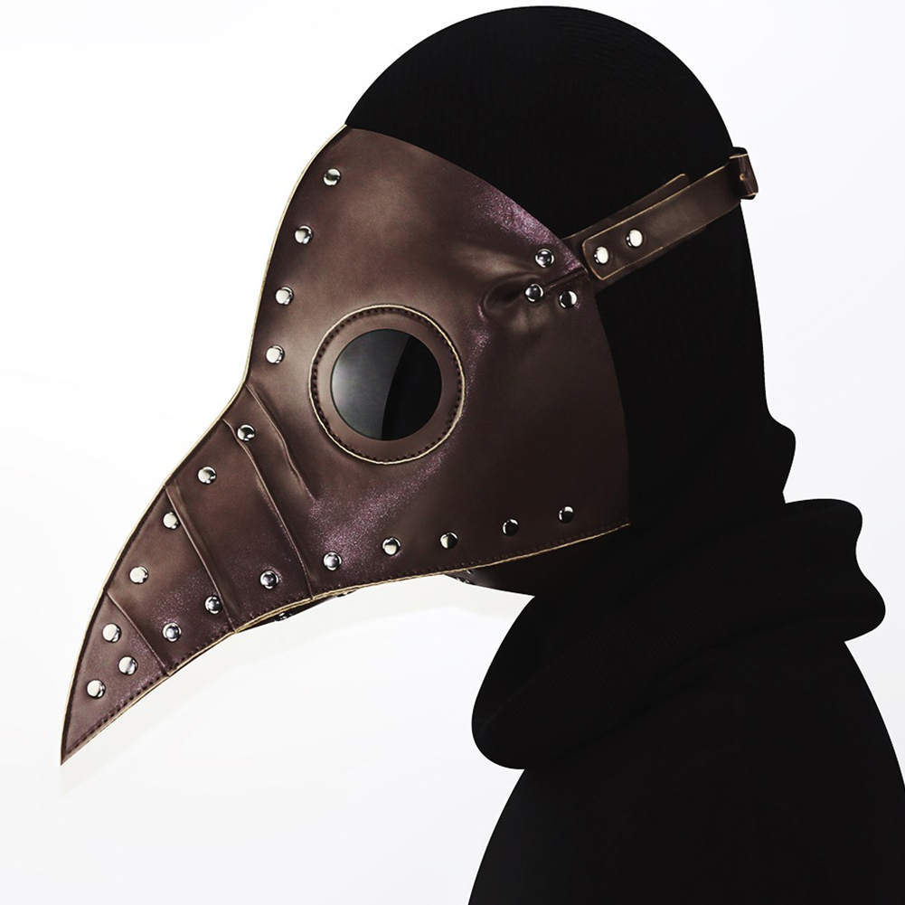Halloween Party PU Long Beak Doctor Mask Cosplay Costume Prop Gift coffee