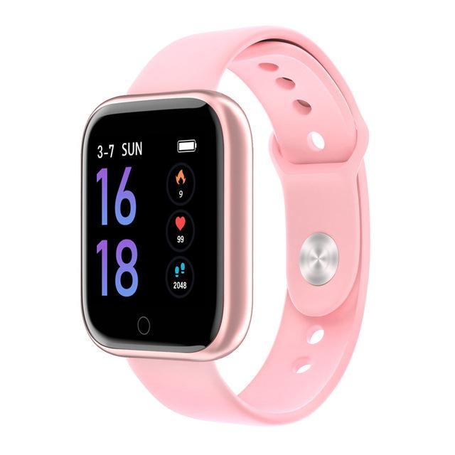 Fashion T80 Smart Watch Women Men Sports Waterproof Bracelet Rose gold