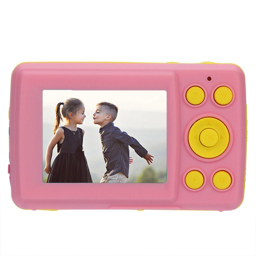 2.4 Inch HD Screen Kid Digital Camera 16MP Anti-Shake Face Detection Camcorder  Pink