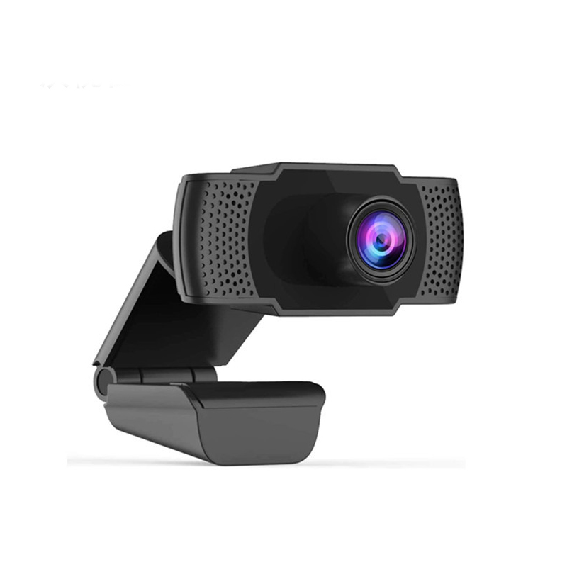 Web Camera Built-in Microphone Webcam USB Plug And Play for PC Computer for School Office Working Decoration black
