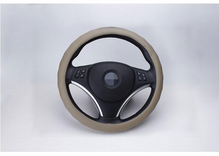 Universal Rubber Auto Car Steering Wheel Cover Non-slip Wear Resistance Cover Fit Diameter 36cm 38cm 40cm