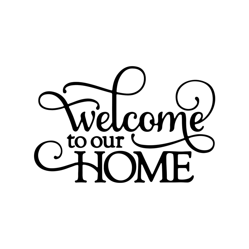 Welcome to Our Home Wall Sticker Home Waterproof Decal Decoration AF2974 56x36cm
