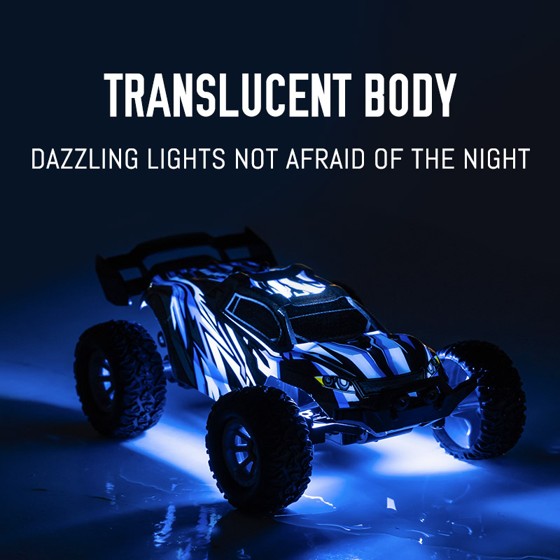 S658 1:32 Remote Control Electric Drift 20KM / H High Speed RC Car 2.4GHz Off Road Vehicles 4WD for Kids Christmas blue