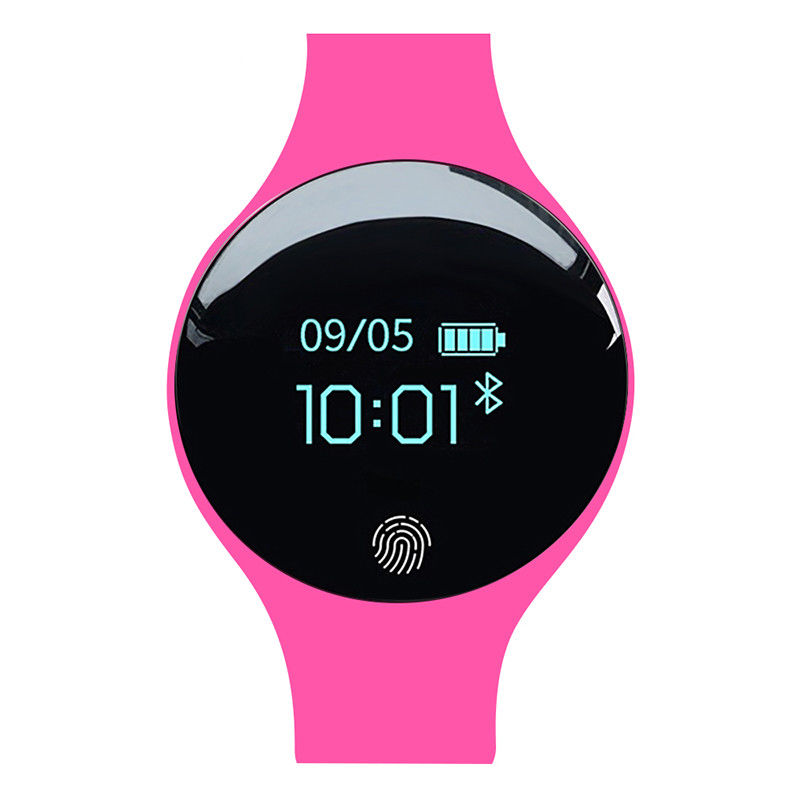 Bluetooth Smart Watch Wrist Waterproof Phone Mate for Android Samsung IOS iPhone rose Red