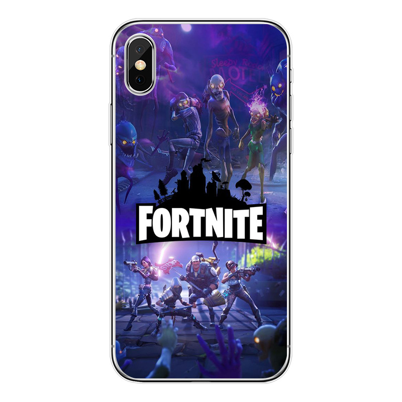 for Apple iPhone Fortnite Game Royal Battle TPU Rubber Plastic Phone Cover Case