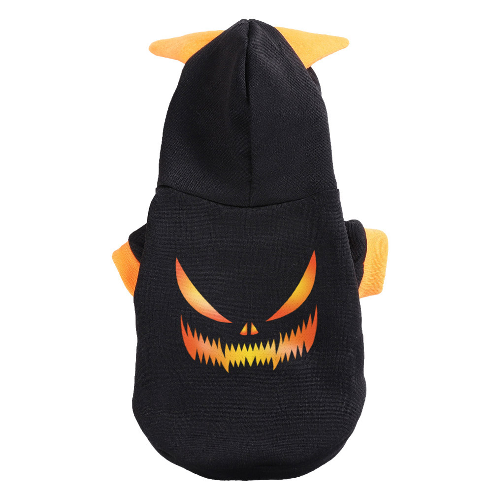 Halloween Pet Clothes Cat Dog Festival Cosplay Autumn Winter Two Legged Costume  black_S