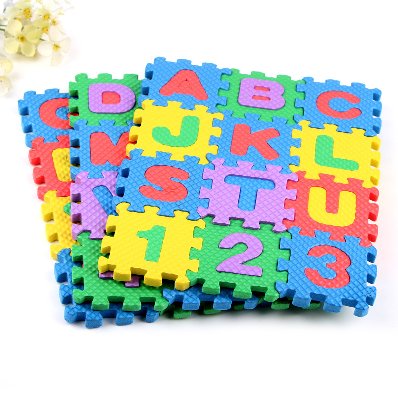 36pcs/set Baby Child Number Alphabet Puzzle Foam Maths Educational Mat Toy