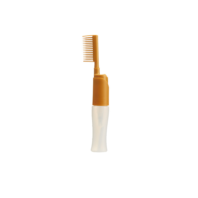 Profssional Salon Hair Dye Dispenser Bottle Comb Colouring Dyeing Bottle Comb Applicator Hair Colouring Hair Brush Styling Tool yellow