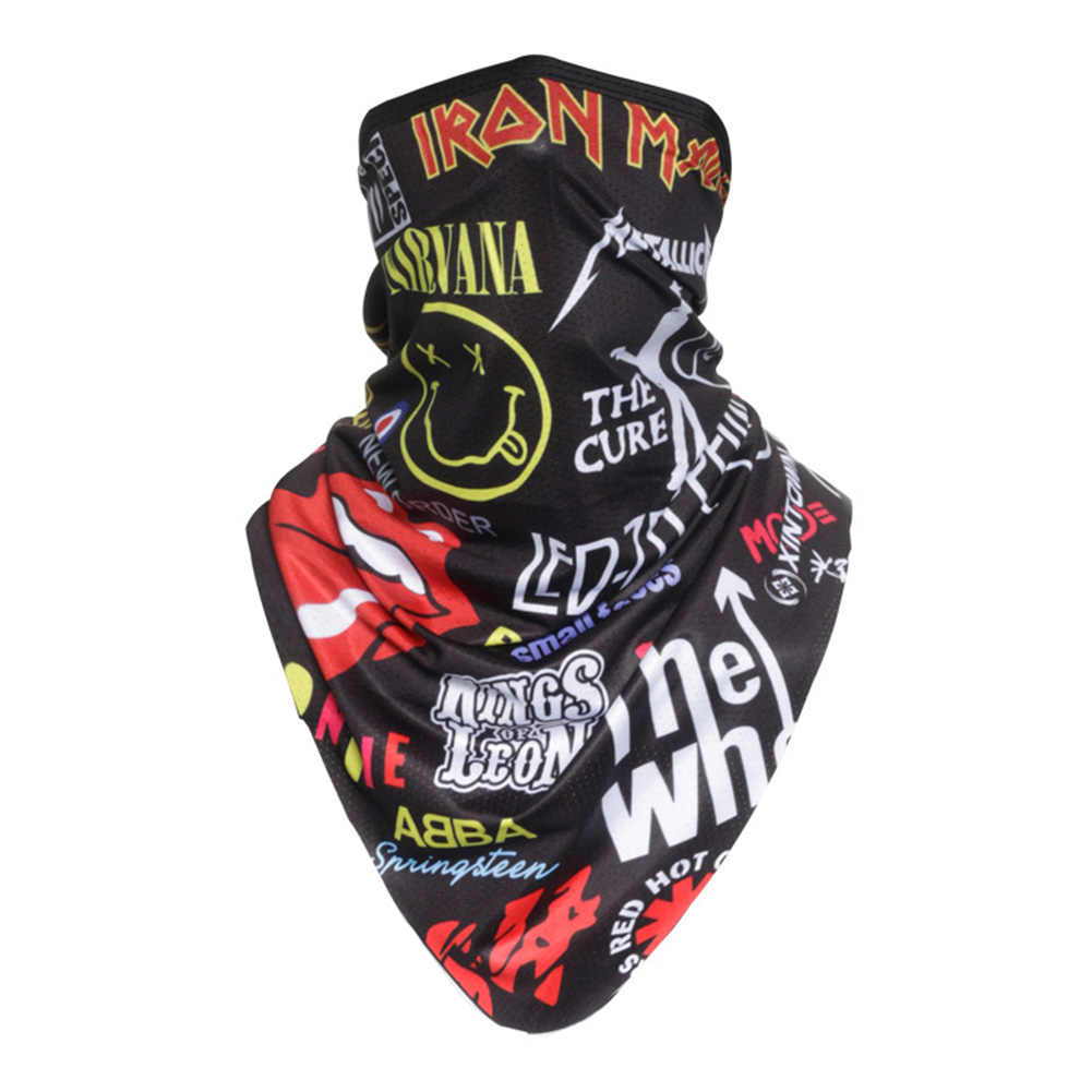 Facecloth Sport Triangle Scarf Cycling Hiking Camping Running Bike Bicycle Half Face Mask E_Free size