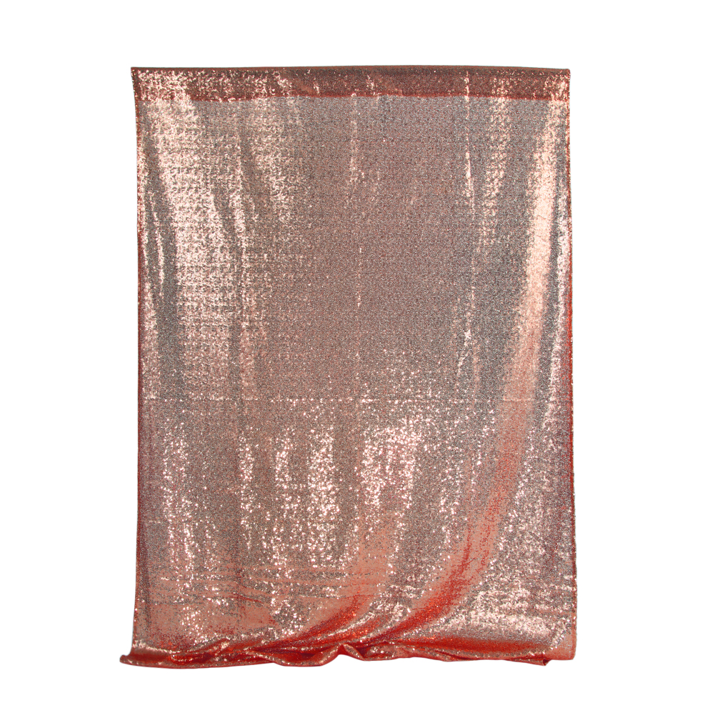 Shimmer Sequin Restaurant Curtain Wedding Photobooth Backdrop Party Photography Background Rose gold_120 * 180cm