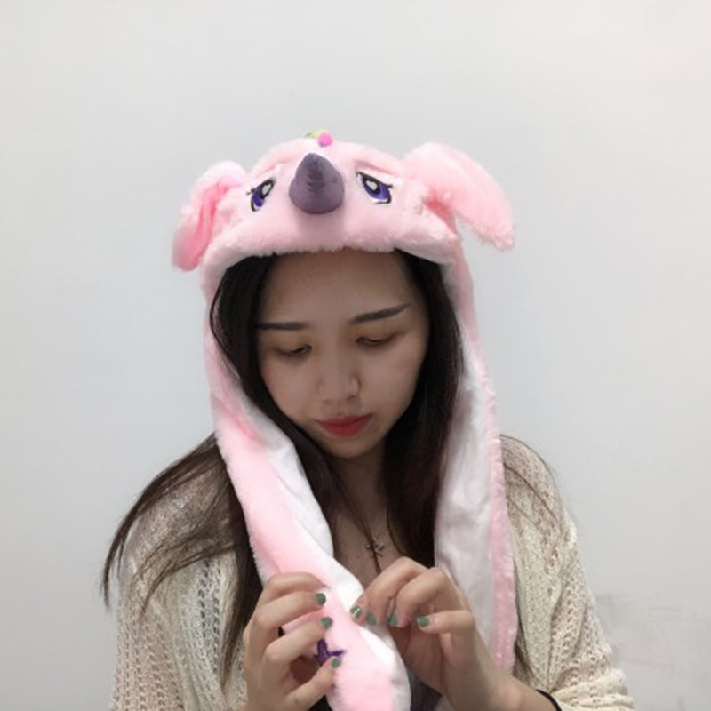[Indonesia Direct] Summer Cute Funny Girl Women Hat with Moving Ears