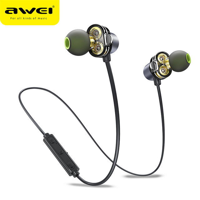 AWEI X650BL Wireless Bluetooth Headset Gray