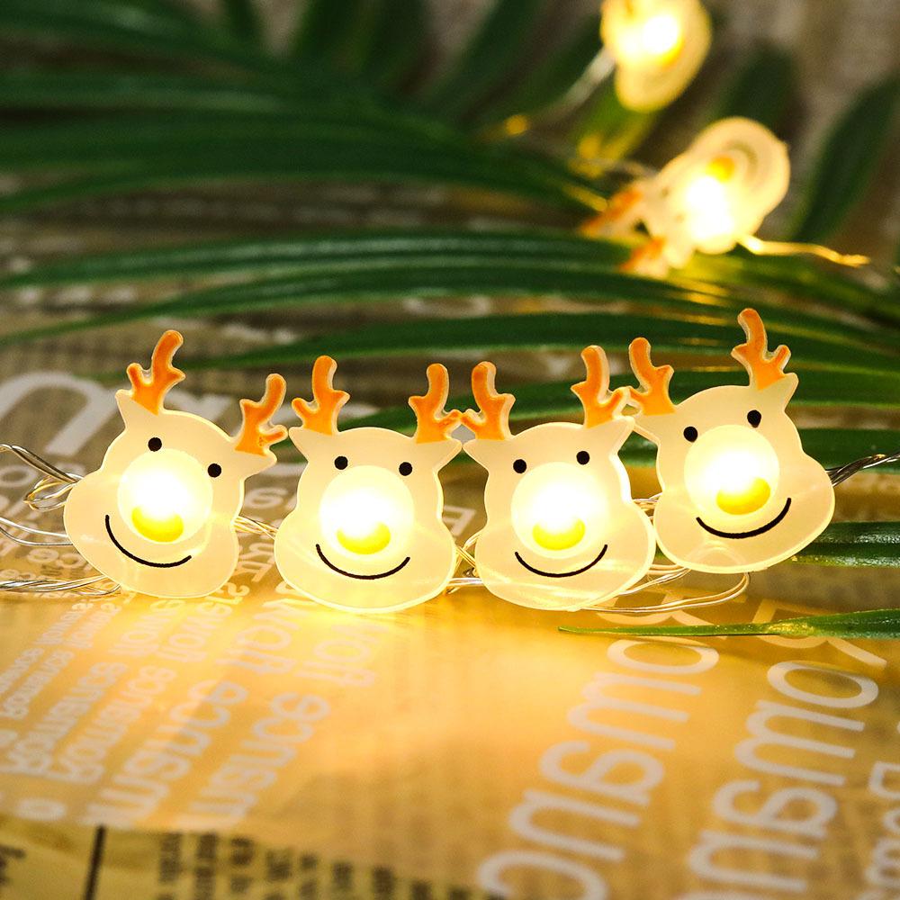 Christmas Elk Shape String Lights LED Xmas Tree Garland Hanging Ornaments for Party Reindeer shape