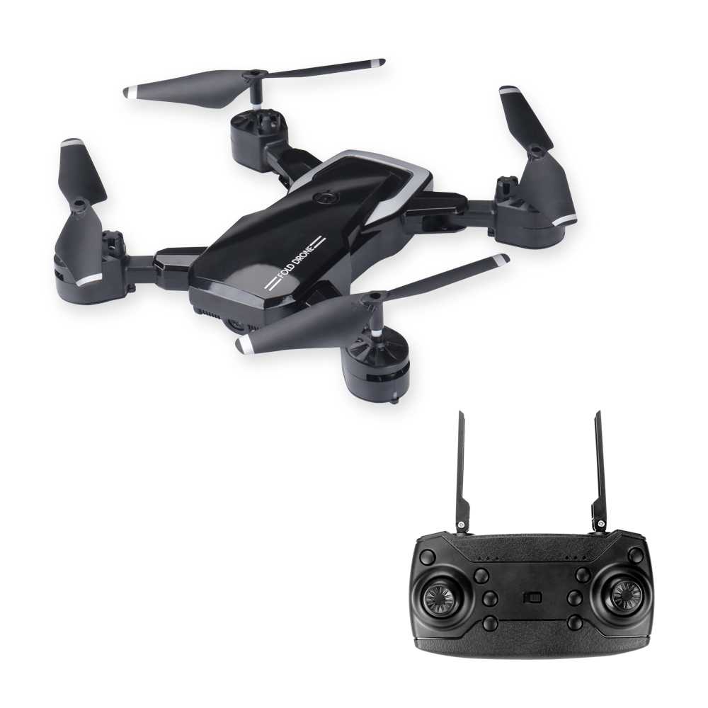 [Indonesia Direct] LF609 2.4Ghz 4CH Fold Drone RC Drone Altitude Hold Headless Mode One Key Return RC Quadcopter RTF Black without camera