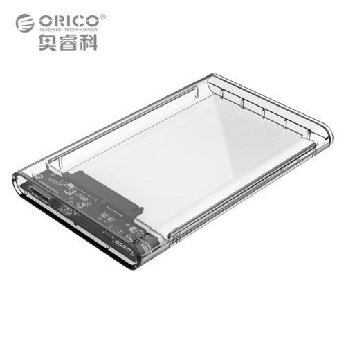 2.5 inch Transparent USB3.0 HDD Case Tool Free UASP Hard Drive Enclosure Orico Brand Transparent