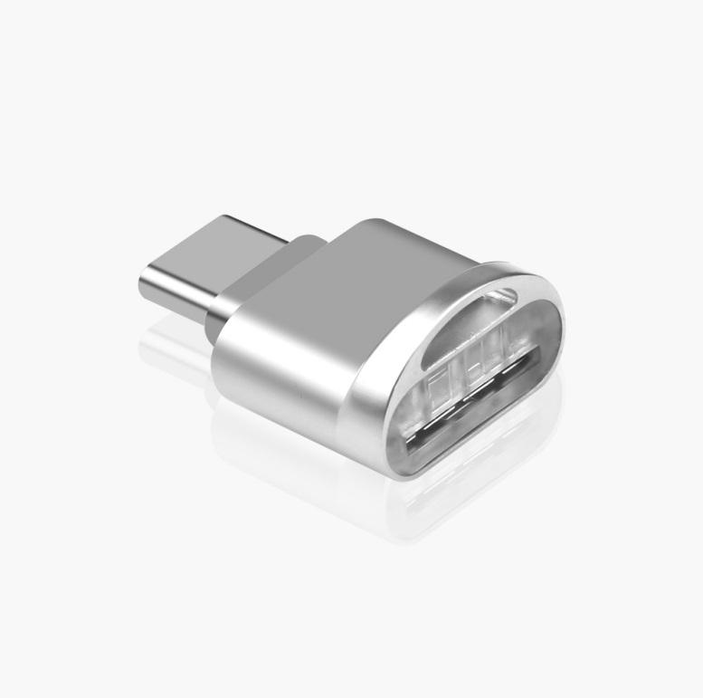 Mini Adapter Type C Micro Memory Card TF Memory Card Reader OTG Adapter USB 3.1 Card Reader For Phone Silver