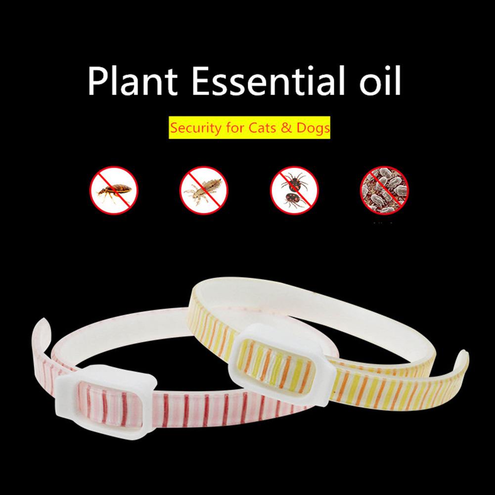 Anti Flea and Tick Collar Anti-mosquito Essential Oil Insect Repellent Dog Cat Collar  yellow_S small circumference 36cm