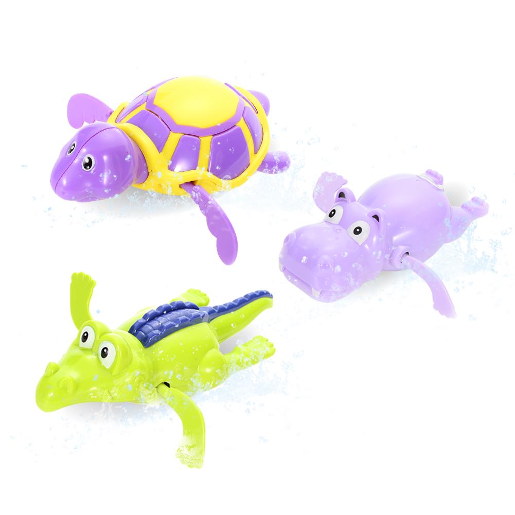 [EU Direct] 3PCS/Set Kids Baby Cute Hippo Tortoise Crocodilian Shape Bath Toy Set Random Style Random Style