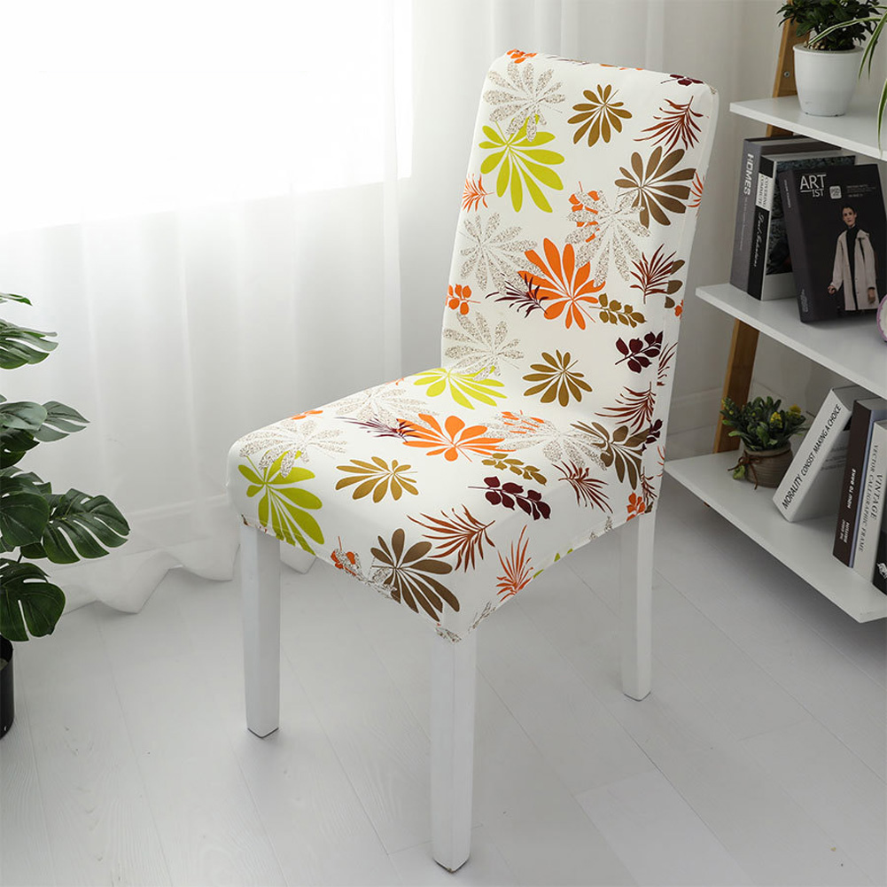1pc Simple Stretch Chair Cover Home Half Pack Printed Chair Cover Colorful_One size