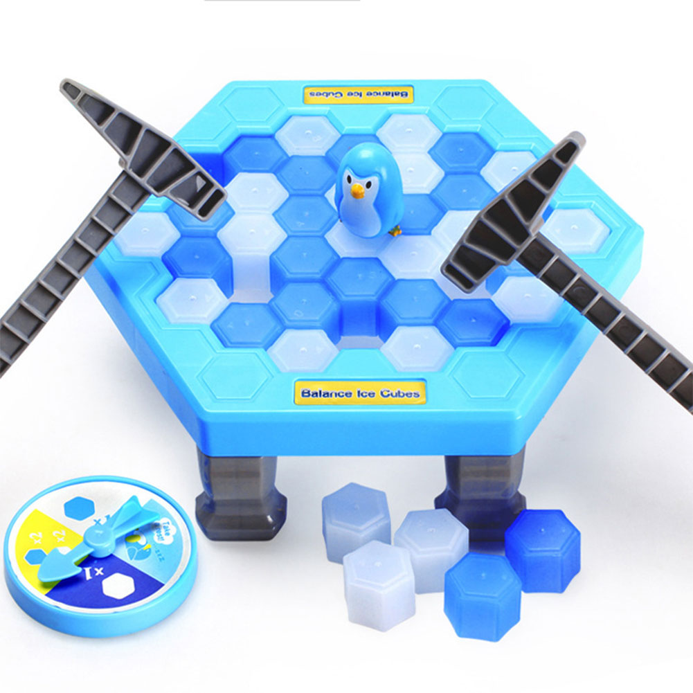 [EU Direct] Interactive Table Desktop Game Breaking Ice Cube Block Pounding Save Penguin Puzzle Toys