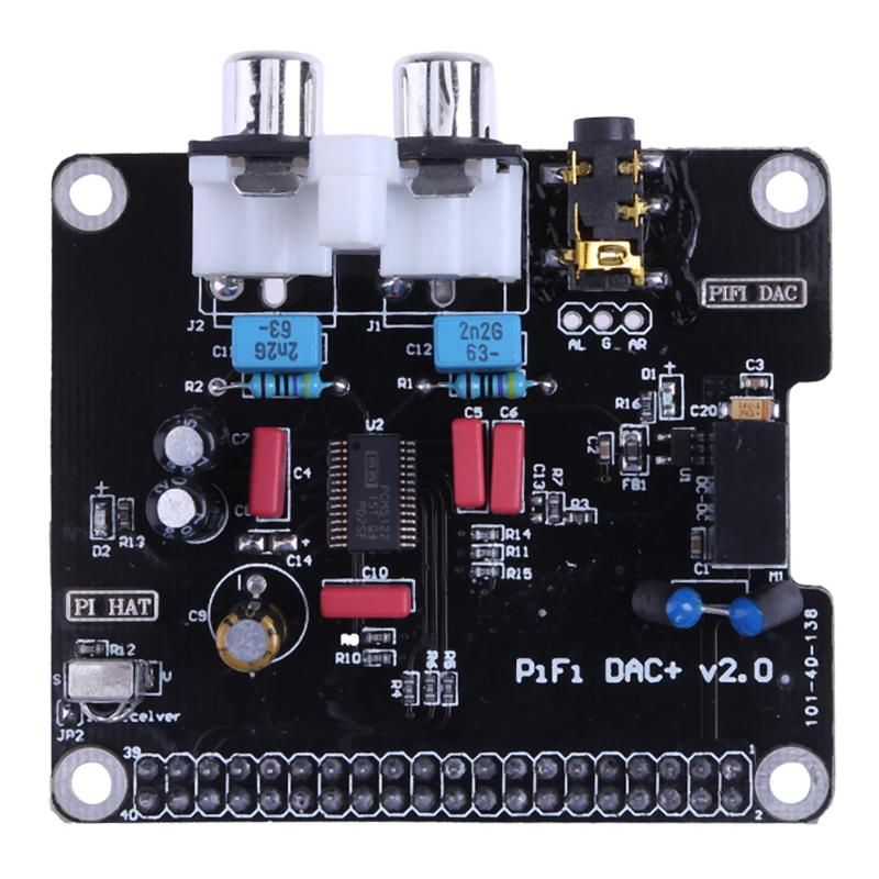 PCM5122 HIFI DAC Audio Sound Card Module I2S 384KHz with LED Indicator for Raspberry Pi B+ for Raspberry Pi 2 Model B black