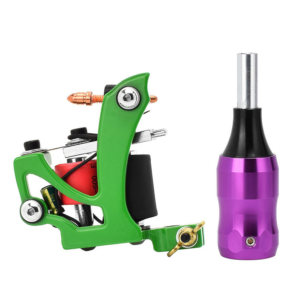 Profession Tattoo Machine Liner Shader with Aluminum Alloy Hand Shank Coil machine + purple handle