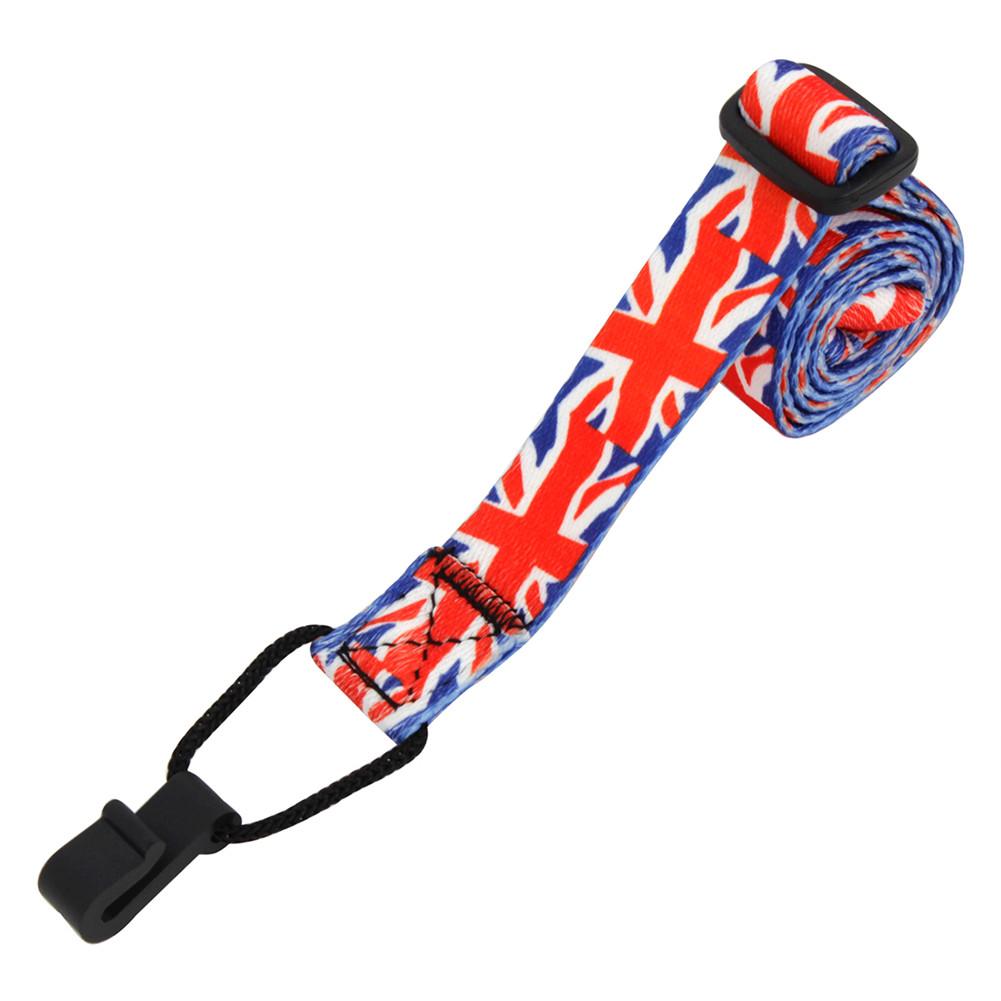 Adjustable National Flag Pattern Guitar Strap Sling with Hook for Ukulele Guitar Accessories National flag