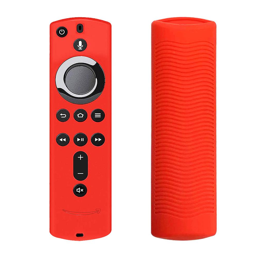 Silicone Case for Fire Tv Stick 4k Voice Remote 5.9inch Remote Control Media Player Protective Cover red