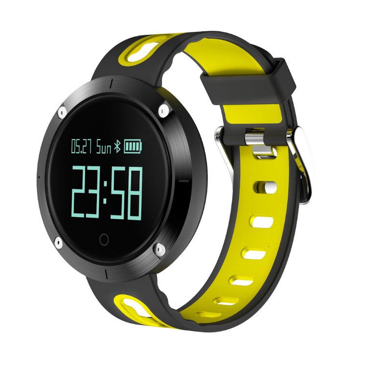 Heart Rate Blood Pressure Bracelet Waterproof Information Massage Reminder Bluetooth Smart Bracelet yellow